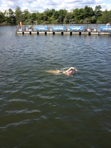 Katie coming into the finish at SwimFesT
