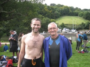 Brian and David before the start of the elite wave