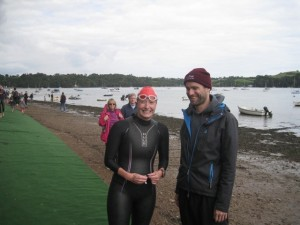 Brian and I at the end of the swim