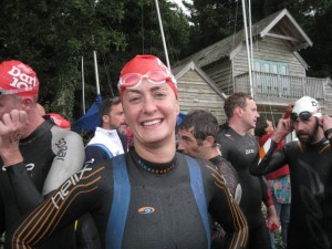 Kate at the end of the swim