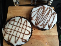 Homemade Bakewell tart (one traditional and one lemon)
