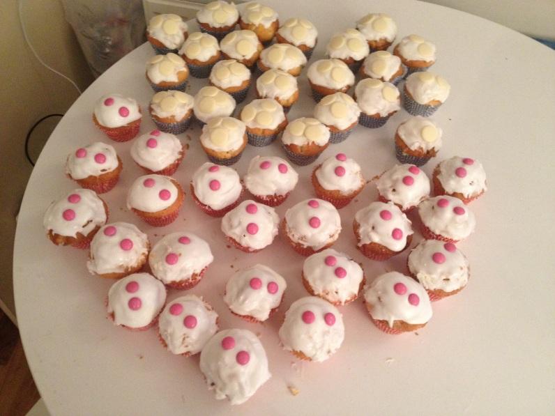 Homemade Christmas cupcakes - lemon and coconut