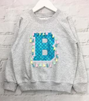 mermaid letter jumper