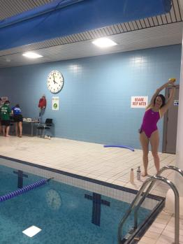 Very important pre-swim stretching